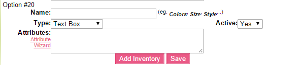 Add inventory to products