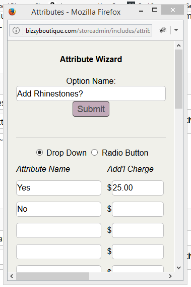 attributes wizard