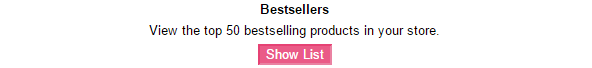Best Sellers Reports