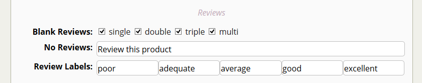 Setup your review options