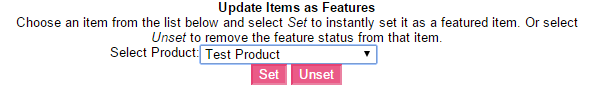 Update featured items