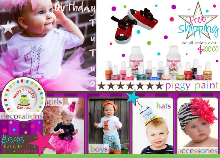 Baby Birthday Boutique Custom Graphic Design