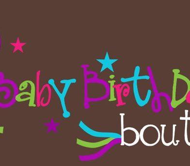 Baby Birthday Custom Boutique Logo Design
